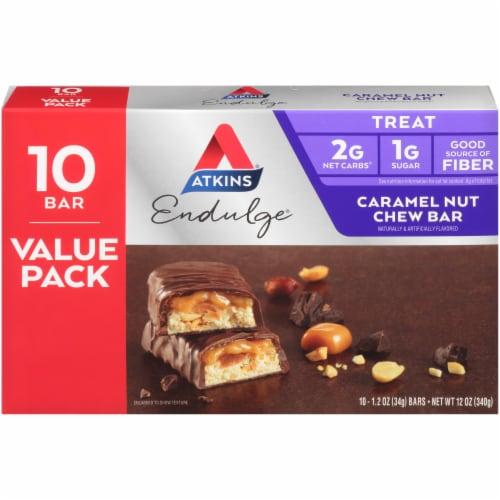 Atkins Endulge Caramel Nut Chew Bars Perspective: back