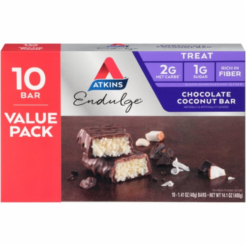 Atkins Endulge Chocolate Coconut Treat Bars Perspective: back