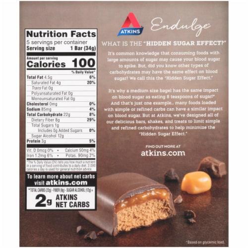 Atkins Endulge Chocolate Caramel Mousse Treat Bar 5 Count Perspective: back
