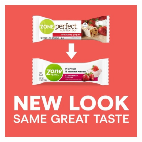 ZonePerfect Strawberry Yogurt Bars Perspective: back