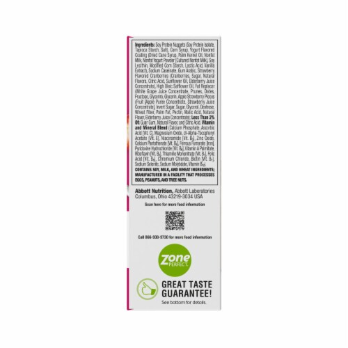 ZonePerfect Strawberry Yogurt Bars Protein Bars Perspective: back