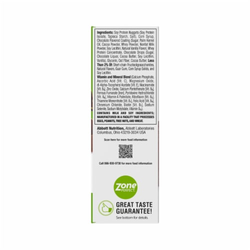 ZonePerfect Chocolate Mint Nutrition Bars Perspective: back