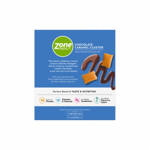 ZonePerfect Chocolate Caramel Cluster Nutrition Bars Perspective: back