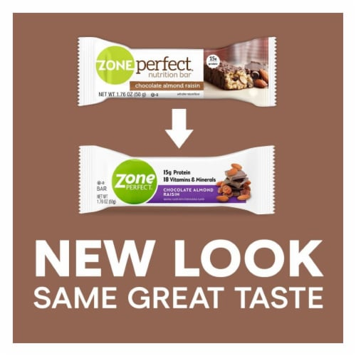 ZonePerfect® Chocolate Almond Raisin Nutrition Bars Perspective: back
