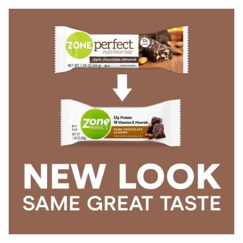 ZonePerfect Dark Chocolate Almond Nutrition Bars Perspective: back