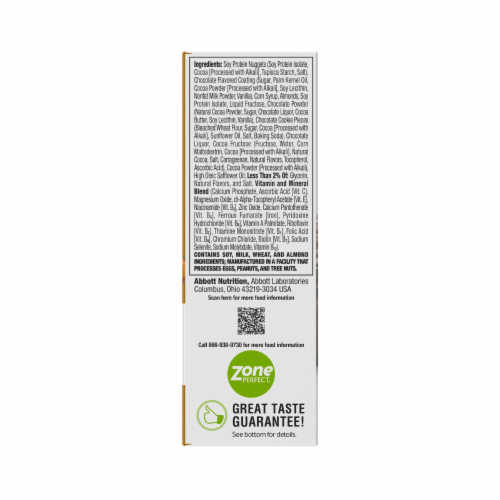 ZonePerfect® Dark Chocolate Almond Nutrition Bars Perspective: back