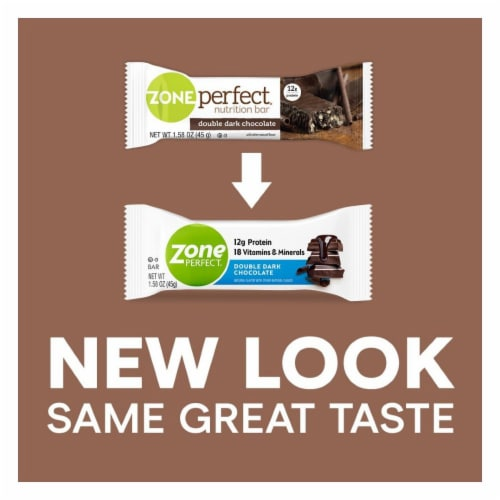 ZonePerfect® Double Dark Chocolate Protein Bars Perspective: back