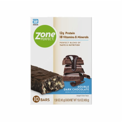 ZonePerfect® Double Dark Chocolate Nutrition Bars Perspective: back
