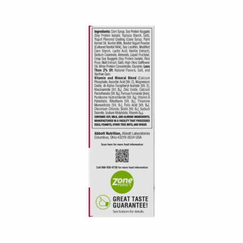 ZonePerfect® Cinnamon Roll Nutrition Bars Perspective: back