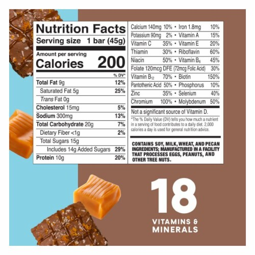 ZonePerfect Salted Caramel Brownie Nutrition Bars Perspective: back