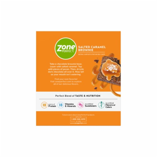 ZonePerfect® Salted Caramel Brownie Nutrition Bars Perspective: back