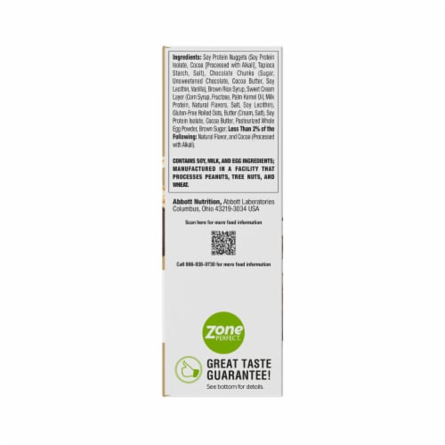 ZonePerfect Oatmeal Chocolate Chunk Bars Protein Bars Perspective: back