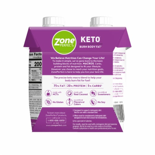 ZonePerfect Keto Butter Coffee Protein Shakes Perspective: back