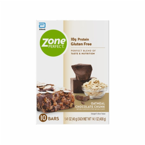 ZonePerfect Oatmeal Chocolate Chunk Nutrition Bars Perspective: back