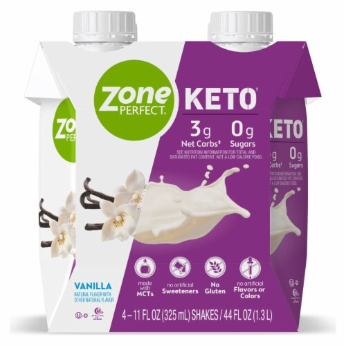 ZonePerfect Keto Vanilla Ready-to-Drink Shakes Perspective: back
