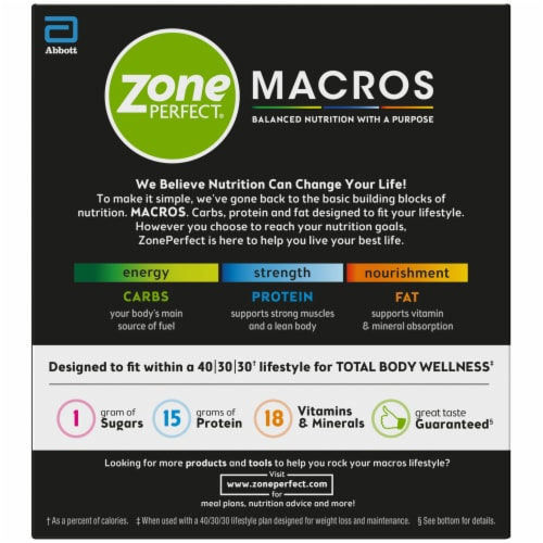 ZonePerfect Macros Chocolatey Cereal Protein Bars Perspective: back