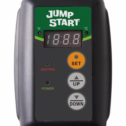 Jump Start MTPRTC Hydroponic Seedling Heat Mat Digital Thermostat Controller Perspective: back