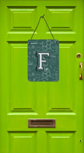 Letter F Back to School Initial Wall or Door Hanging Prints Perspective: back