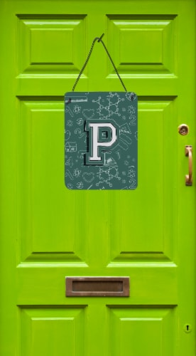 Letter P Back to School Initial Wall or Door Hanging Prints Perspective: back