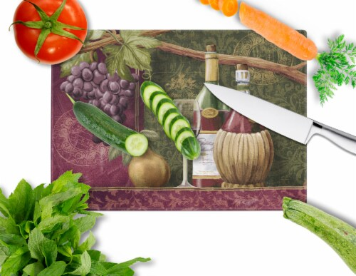 Carolines Treasures  PTW2044LCB Wine Chateau Roma Glass Cutting Board Large Perspective: back