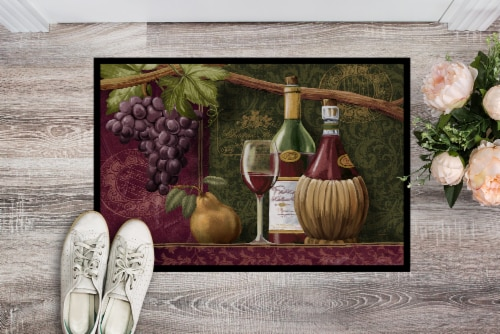 Carolines Treasures  PTW2044MAT Wine Chateau Roma Indoor or Outdoor Mat 18x27 Perspective: back