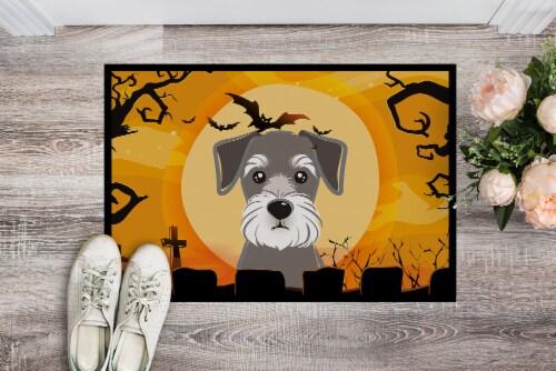 Carolines Treasures  BB1764JMAT Halloween Schnauzer Indoor or Outdoor Mat 24x36 Perspective: back