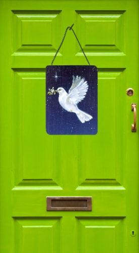 Peace Dove with the Olive Branch Wall or Door Hanging Prints Perspective: back