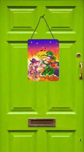Witch Voodoo Scarecrow Halloween Wall or Door Hanging Prints Perspective: back