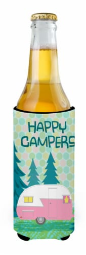Happy Campers Glamping Trailer Ultra Beverage Insulators for slim cans Perspective: back