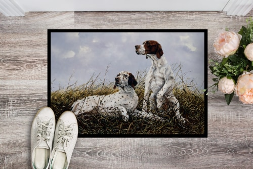 English Pointer by Michael Herring Indoor or Outdoor Mat 24x36 Perspective: back