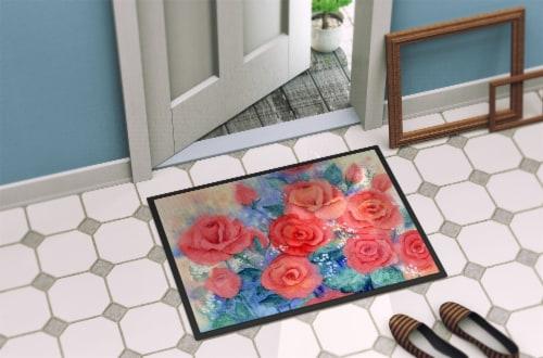 Carolines Treasures  IBD0251MAT Roses Indoor or Outdoor Mat 18x27 Perspective: back