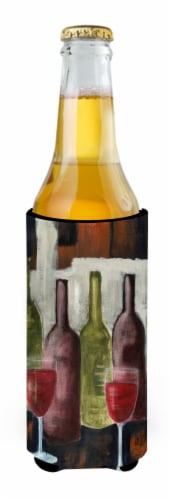 Red Wine by Petrina Sutton Ultra Beverage Insulators for slim cans Perspective: back