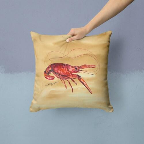 Carolines Treasures  8230PW1414 Crawfish Fabric Decorative Pillow Perspective: back