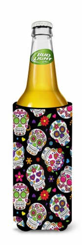 Day of the Dead Black Michelob Ultra Hugger for slim cans Perspective: back