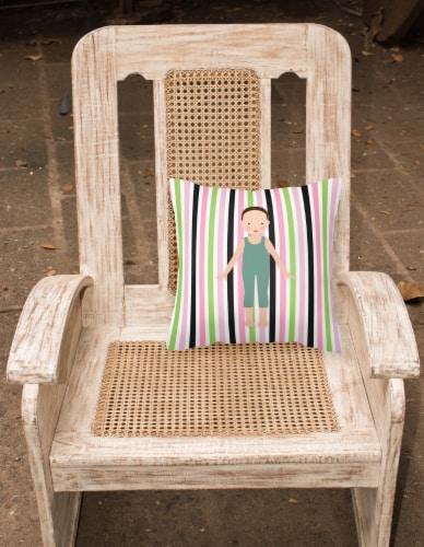 Dancer Bikatard Flex Hands Fabric Decorative Pillow Perspective: back