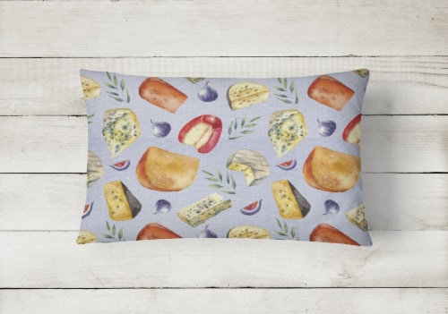 Assortment of Cheeses Canvas Fabric Decorative Pillow Perspective: back