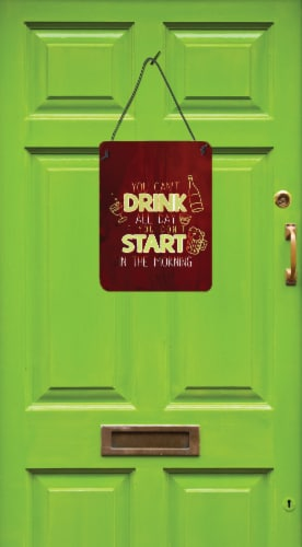 Start Drinking in the Morning Wall or Door Hanging Prints Perspective: back