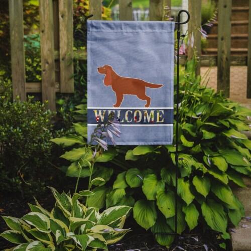 Carolines Treasures  BB5516GF English Cocker Spaniel Welcome Flag Garden Size Perspective: back