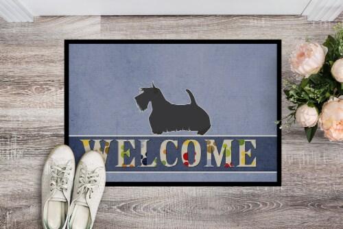 Scottish Terrier Welcome Indoor or Outdoor Mat 24x36 Perspective: back