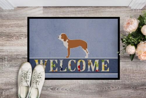 Carolines Treasures  BB5495MAT Spanish Hound Welcome Indoor or Outdoor Mat 18x27 Perspective: back