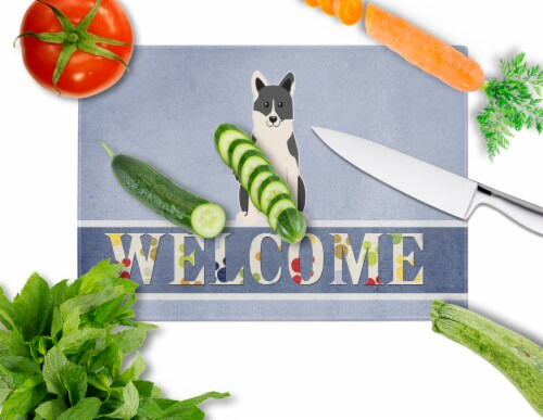 Russo-European Laika Spitz Welcome Glass Cutting Board Large Perspective: back