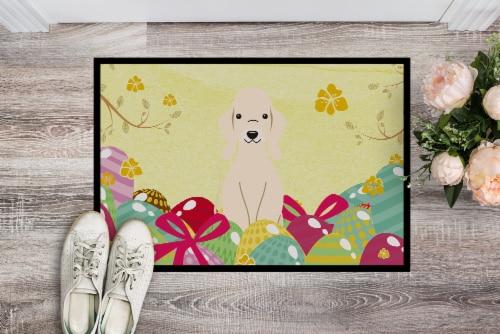 Easter Eggs Bedlington Terrier Sandy Indoor or Outdoor Mat 24x36 Perspective: back