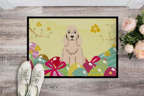 Easter Eggs Cocker Spaniel Buff Indoor or Outdoor Mat 18x27 Perspective: back