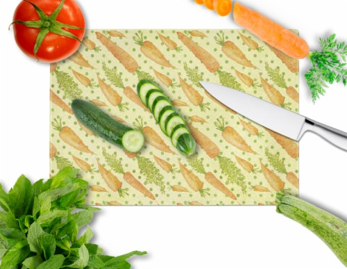 Carolines Treasures  BB7571LCB Watercolor Carrots Glass Cutting Board Large Perspective: back