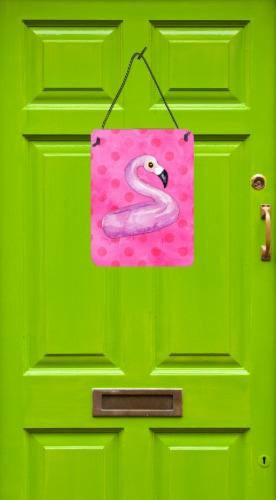 Flamingo Floaty Pink Polkadot Wall or Door Hanging Prints Perspective: back