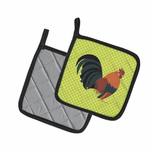 Carolines Treasures  BB7662PTHD Dutch Bantam Chicken Green Pair of Pot Holders Perspective: back
