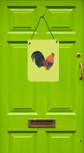 Dutch Bantam Chicken Green Wall or Door Hanging Prints Perspective: back