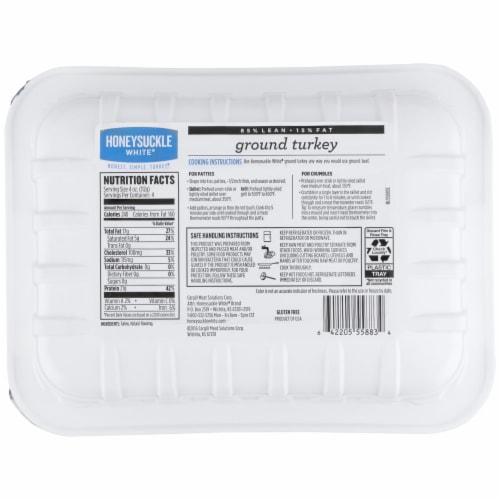 Honeysuckle 85% Lean White Fresh Ground Turkey Perspective: back
