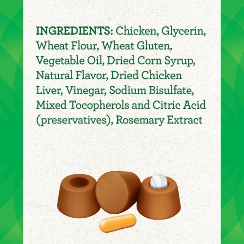 Feline Greenies Pill Pockets Chicken Flavored Cat Treats Perspective: back