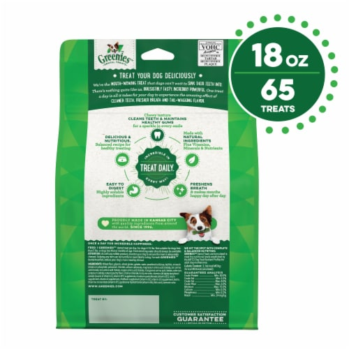 Greenies Original Teenie Dog Dental Treats Perspective: back